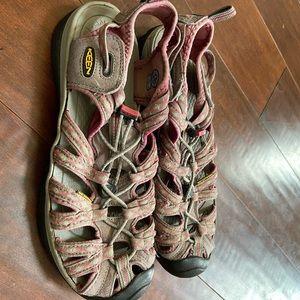 Pink keens waterproof hiking trekking sandals